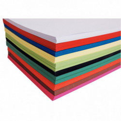 PAQUET DE 250 FEUILLES DE CARTA, 21X29.7 CM, 270G 10 COULEURS ASSORTIES