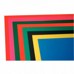 PAQUET DE 25 FEUILLES CARTADOR 50X65CM 270 G 8 COULEURS ASSORTIES