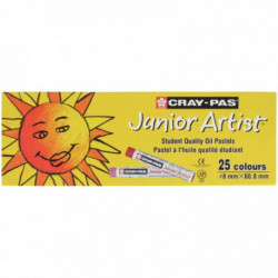 BOÎTE DE 25 PASTELS CRAY-PAS JUNIOR ARTIST  ASSORTIES