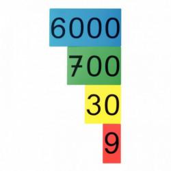 CARTON DE CHIFFRES MAGNÉTIQUES 1 À 9000