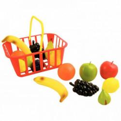 PANIER DE 15 FRUITS TAILLE RÉELLE EN PLASTIQUE SOUPLE