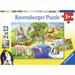 LOT 2 PUZZL CRT 12P ANIMO ZOO