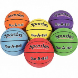 SACHET DE 6 BALLONS BASKET BALL TAILLE 5 22CM  ASSORTIS