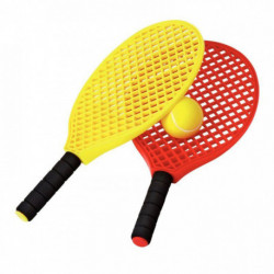 LOT DE 6 RAQUETTES MINI TENNIS + 3 BALLES