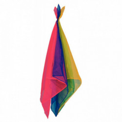 SET 12 FOULARDS JONGLAGE COULEURS ASSORTIES