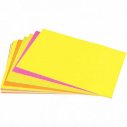 AFFICHE FLUO 90G 40X60CM PQT DE 25F. ASSORTIES ORANGE ROSE JAUNE VERT ROUGE