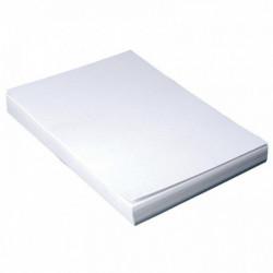 PLAT COUVERTURE GRAIN CUIR A4 BLANC PQT 100 8011100