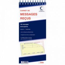 CARNET 160 MESSAGES RECUS AVEC DOUBLE