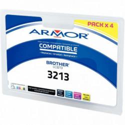 PACK DE 4 CARTOUCHES ENCRE COMPATIBLE P/ BROTHER LC3213 NOIR CYAN MAGENTA JAUNE