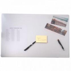 SOUS MAIN EN PVC INCOLORE MAT, FORMAT 50X63 CM