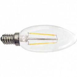 AMPOULE LED FLAMME LISSE E14 2W