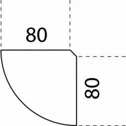 ANGLE DE LIAISON 90° 80X80CM HÊTRE