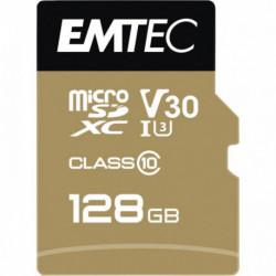 CARTE MICRO SD EMTEC UHS I U3 V30 SPEEDIN PRO 128 GO XC