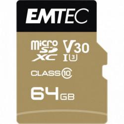 CARTE MICRO SD EMTEC UHS I U3 V30 SPEEDIN PRO 64 GO XC
