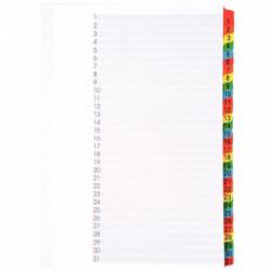 INTERCALAIRES NUMÉRIQUES 1 À 31 TOUCHES FORMAT 21X29,7 CM