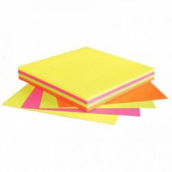 BLOC DE 100 FEUILLES DE NOTES REPOSITIONNABLES 75 X 75 MM 4 COULEURS ASSORTIES
