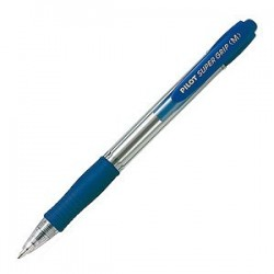 STYLO BILLE RETRACTABLE PILOT SUPERGRIP BLEU moyen