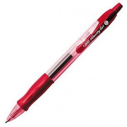 STYLO BIC VELOCITY GEL RETRACTABLE ROUGE