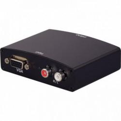 CONVERTISSEUR MONOBLOC VGA VERS HDMI AVEC 2 CONNECTEURS RCA