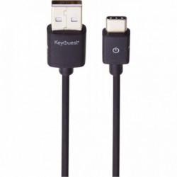 CORDON USB 3.0 MALE/MÂLE USB A VERS USB C OU LONGUEUR 1,2 MÈTRE NOIR
