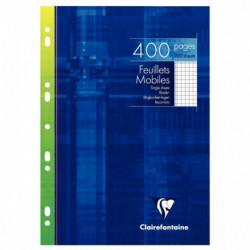ETUI 200 FEUILLETS MOBILES , 400 PAGES, 21X29,7 CM, 5X5, BLANC