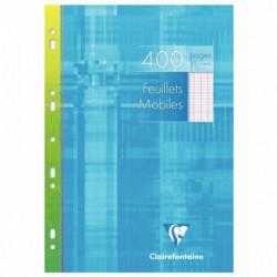 ETUI 200 FEUILLETS MOBILES , 400 PAGES, 21X29,7 CM, SEYES, BLANC