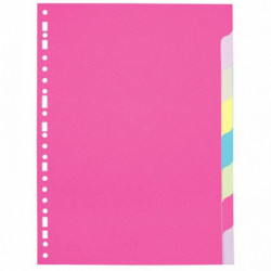 INTERCALAIRES 8 TOUCHES NEUTRES A4 CARTE FORTE DOSSIER 170G COULEURS ASSORTIES