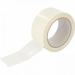 LOT DE 6 ROULEAUX ADHÉSIF PVC BLANC 50MMX66M