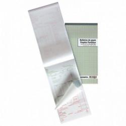 MANIFOLD BULLETINS DE SALAIRE NCR 13,5 X 23 CM 50 DUPLICATAS