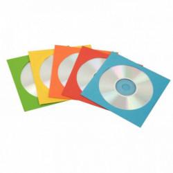 PACK50 ENVELOPPE CD PAPIER ASS