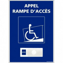 PANNEAU KIT D'APPEL RAMPE D'ACCÈS + SONNETTE