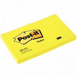 PAQUET 6 BLOCS 100 FEUILLES POST-IT 76X127 MM JAUNE