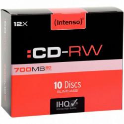 PAQUET DE 10 CD-RW HIGH SPEED INTENSO 700 MO