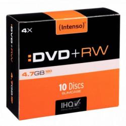 PAQUET DE 10 DVD+RW INTENSO 4,7 GO