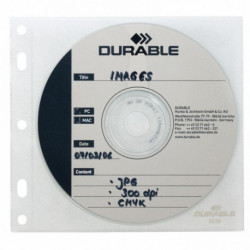PAQUET DE 10 RECHARGES POCHETTES POUR LE CLASSEMENT DE 1 CD/DVD