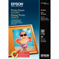 PAPIER PHOTO GLACÉ EPSON A4 200G (21 X 29,7 CM) PAQUET DE 20 FEUILLES