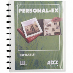 PROTÈGE-DOCUMENTS PERSONNALISABLE ADOC BIND-EX 30 POCH. 60 VUES A4 POLYPRO 8/10È
