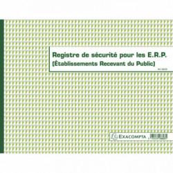 REGISTRE DE SÉCURITÉ POUR LES ERP (ÉTABLISSEMENTS RECEVANT DU PUBLIC)