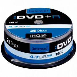 SPINDLE DE 25  DVD+R INTENSO 4,7 GO