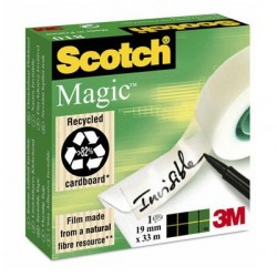 ADHESIF SCOTCH MAGIC 810 19MMx33M