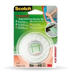 ADHESIF DBLE FACE SCOTCH MOUNT 19MMX1,5M