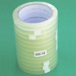 ADHESIF TRANSPARENT 25 MMX66M TUBE DE 6