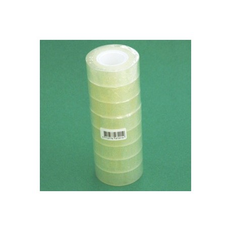 ADHESIF TRANSPARENT 19MMx33M TUBE DE 8