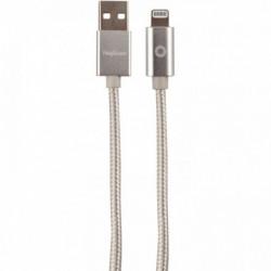 CORDON TRESSÉ EN NYLON USB 2.0 MALE/MÂLE USB A VERS LIGHTNING LONGUEUR 1,2 MÈTRE