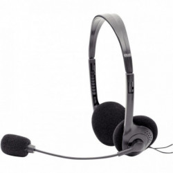 DACOMEX Casque-Micro Stéréo Ajustable USB noir 059808