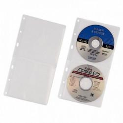 PAQUET DE 5 RECHARGES POCHETTES POUR LE CLASSEMENT DE 2 CD/DVD