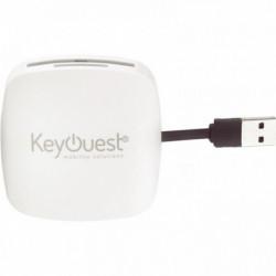 HUB 2 EN 1 AVEC 3 PORTS USB 2.0 ET LECTEUR DE CARTES MÉMOIRES