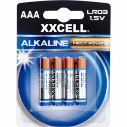 PILES BLISTER DE 4 - 1.5V LR03 ALCALINE XXCELL