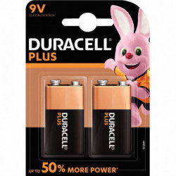 PILE DURACELL PLUS POWER 9V x 2 5000394105522