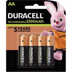 PILE RECHARGEABLE ACTIVE CHARGE HR6/AA PQT 4 DURACELL 5000394057043